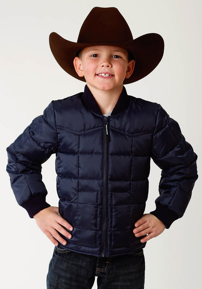 Roper Boys Puffer Jacket - Navy