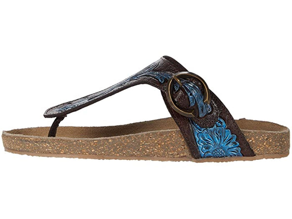 Roper Mira Sandals - Brown/Blue