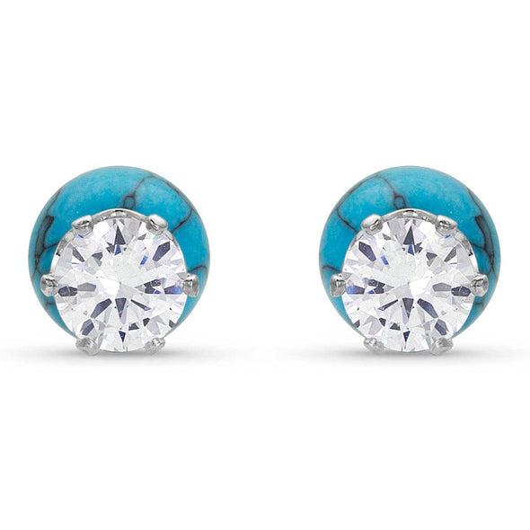 Montana Silversmiths Reversible Twinkle Turquoise Post Earrings