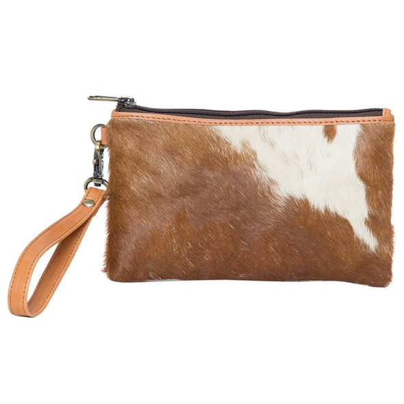Toronto Jersey Hide ad Tan Leather Clutch
