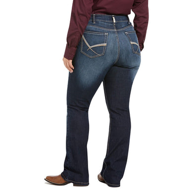 Ariat Ladies R.E.A.L Mid Rise Cleo Boot Cut Jeans - Plus Size