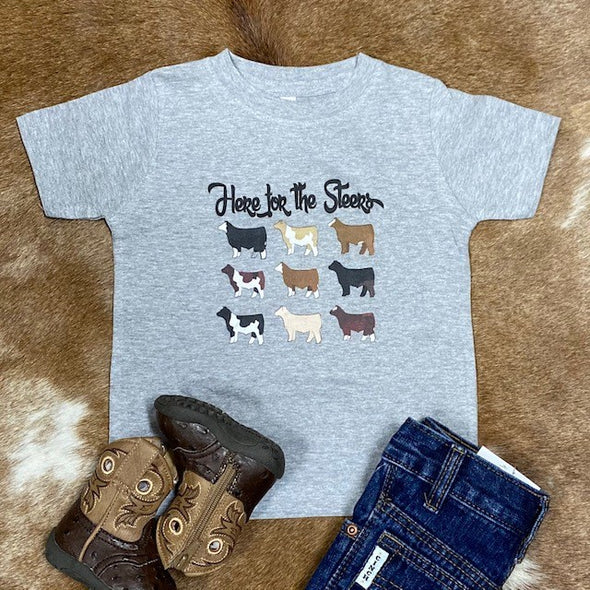 Here For The Steers Toddler Tee