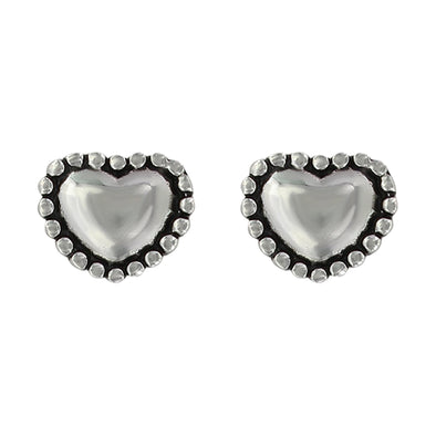 Montana Silversmith Beaded Puffy Heart Earrings
