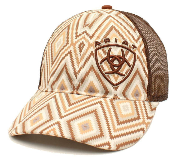 Ariat Neutral Brown Aztec Baseball Cap