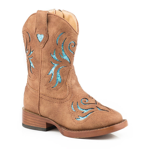 Roper Toddler Glitter Breeze Tan Boots