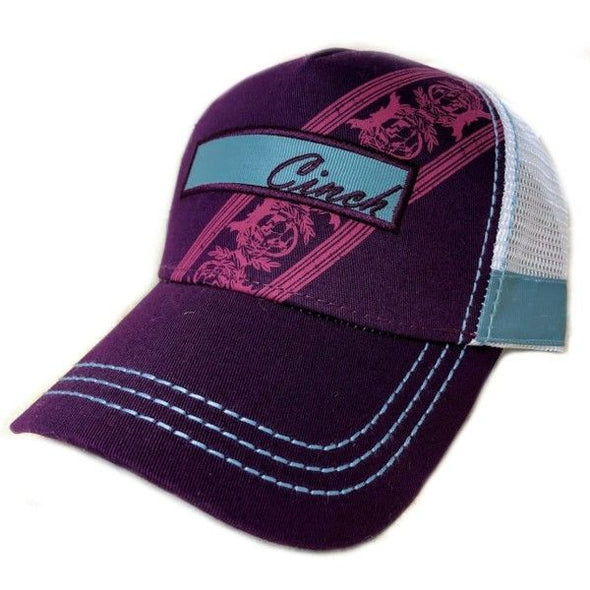 Cinch Ladies Purple Logo Trucker Cap