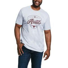 Ariat Mens Longhorn Grey Tee