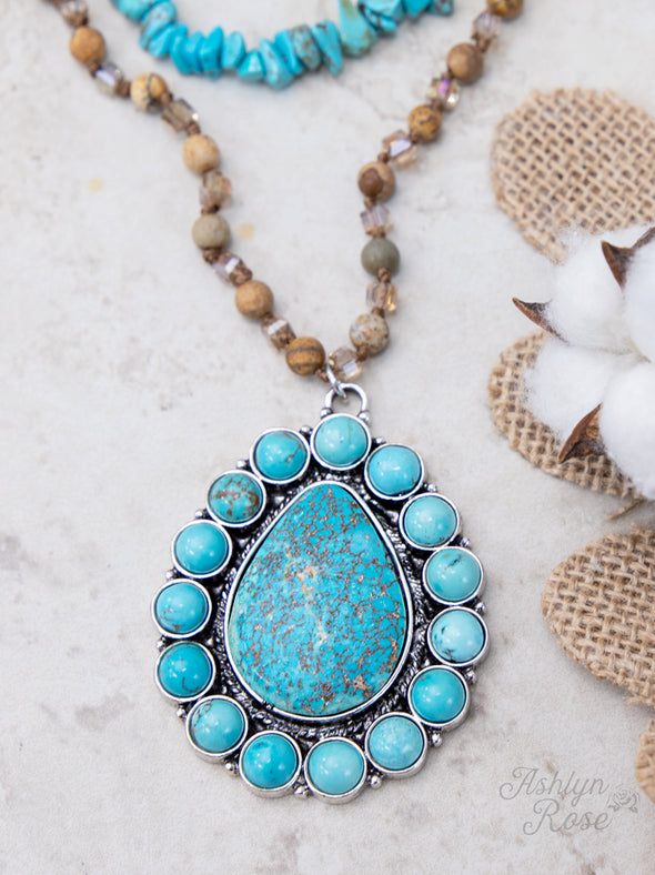 Backroad Beauty Turquoise Stone Necklace