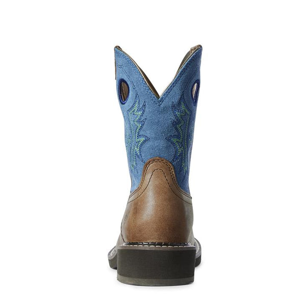 Ariat Ladies Fatbaby Heritage Cowgirl Boots- Caramel/Bluebird