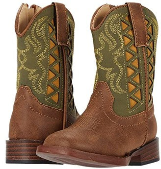Roper Little Kids Askook Boots - Green