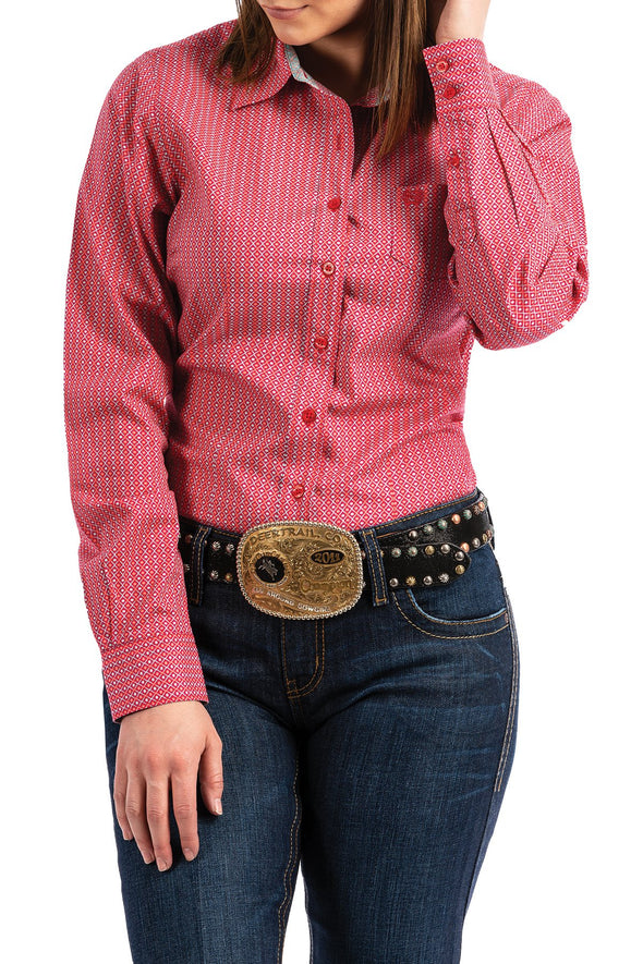 Cinch Ladies Pink Kacey L/S Shirt