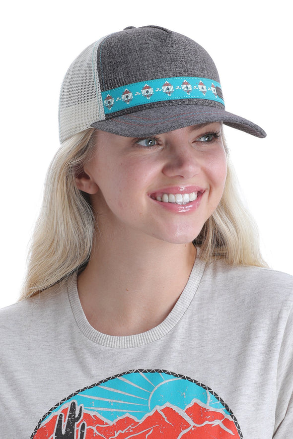 Cinch Ladies Flexifit Trucker Cap - Brown/White