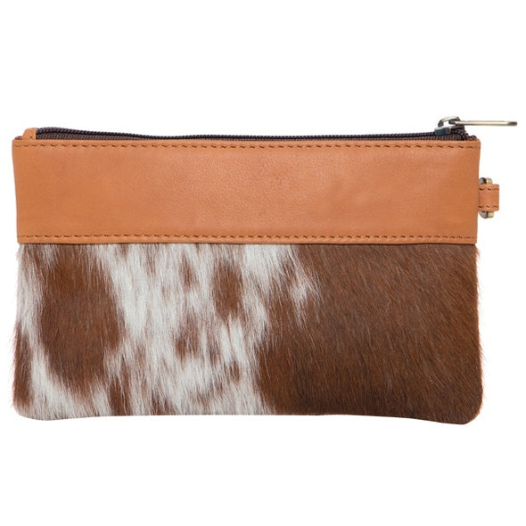 Wales Jersey Hide and Tan Leather Small Clutch