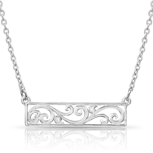 Montana Silversmith Bar None Scroll Necklace