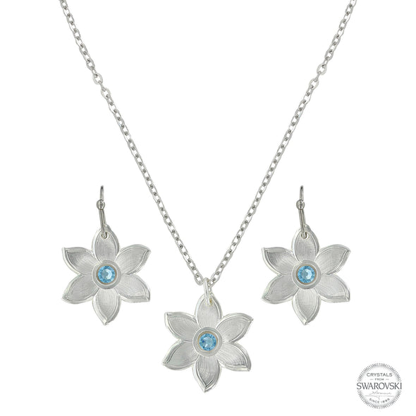 Montana Silversmith Treasures Big Sky Blue Flower Set