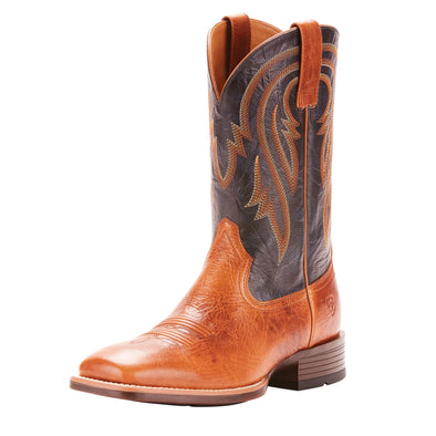 Ariat Plano Western Boot - Gingersnap/Army Blue