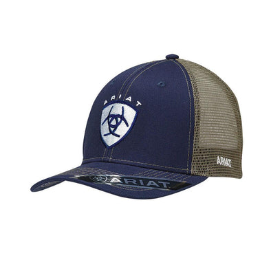 Ariat Navy and Beige Patch Cap