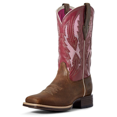 Ariat Ladies Blackjack Ventek - Wheat/Fuschia