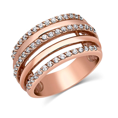 Montana Silversmith Layered Brilliance Rose Gold Ring