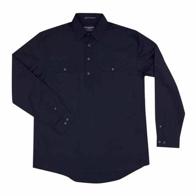 Just Country Cameron Half Button Shirt - Navy