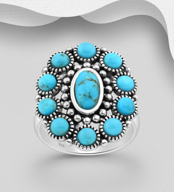 Dallas Sky Blue Turquoise Ring