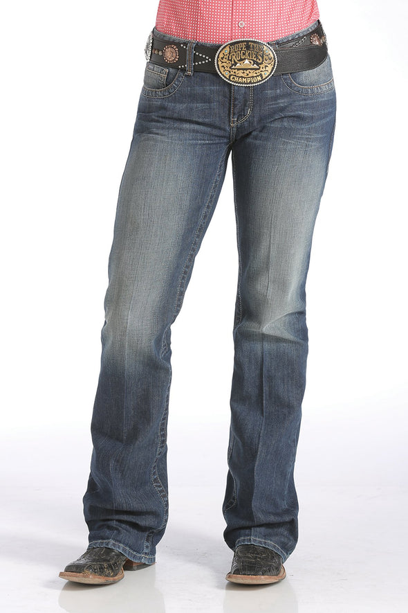Cinch Ada Relaxed Fit Jeans - Medium Stonewash
