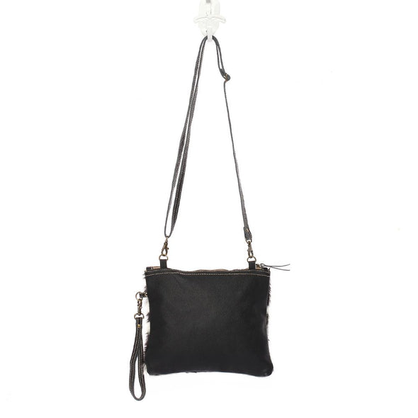 Shade Bag Wristlet/Cross-body Bag - Black/White