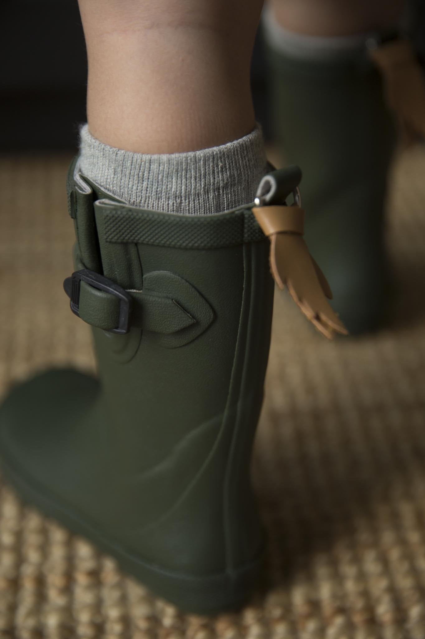 Army Green Welly Gumboots