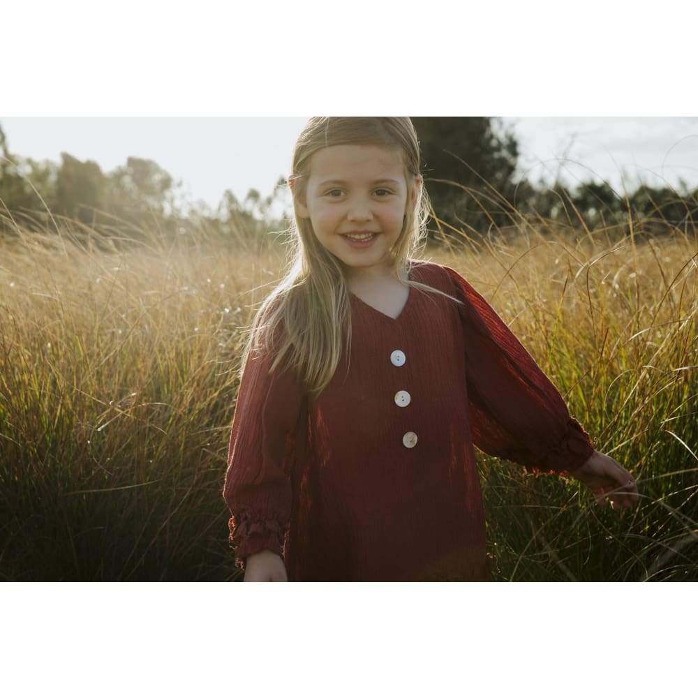 Rustic Puffer Dress - Childrens