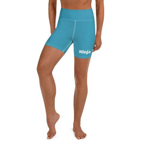 Sky Blue Ninja Yoga Shorts