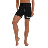 Black Ninja Yoga Shorts