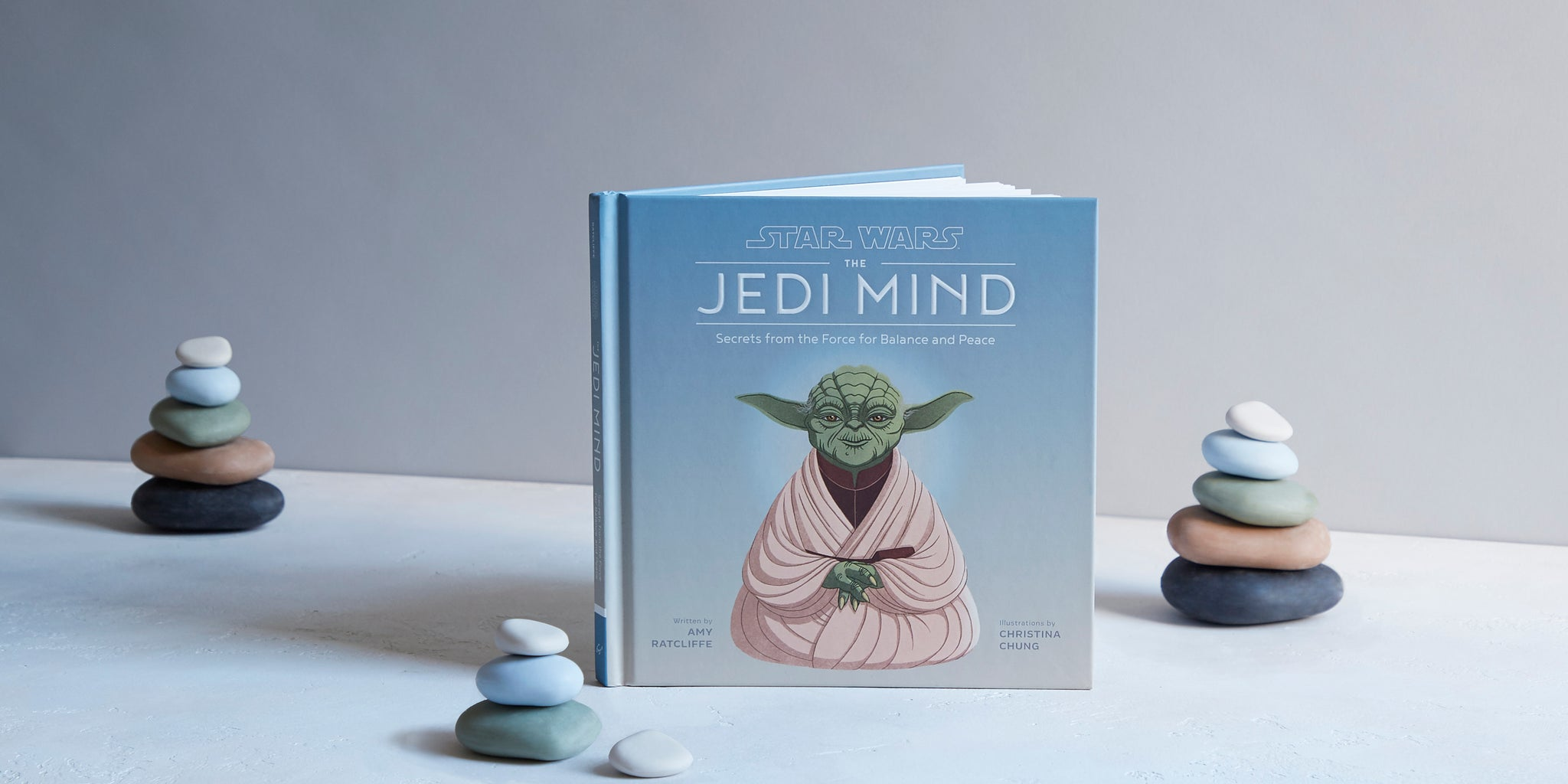 Star Wars The Jedi Mind book with stacking stones