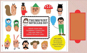 The Small Object Thumbprint Notecard Set