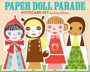 Paper Doll Parade Notecard Set