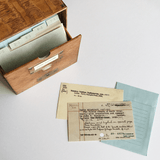 Card Catalog: 30 Notecards box and cards