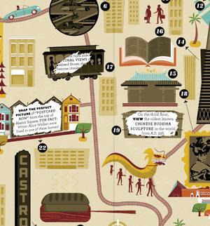 Detail of City Scratch-Off Map: San Francisco