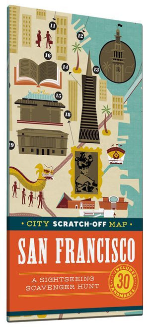 City Scratch-Off Map: San Francisco