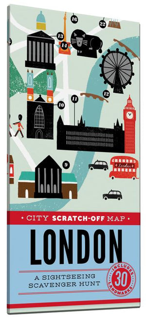 City Scratch-Off Map: London