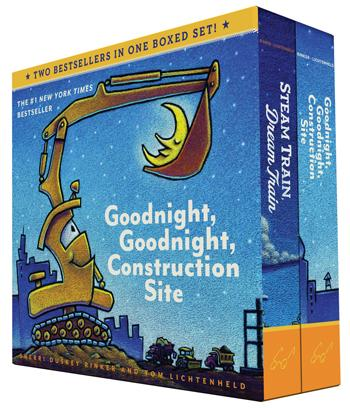 Goodnight, Goodnight  Construction Site and Steam Train Dream Train Boxed Set
