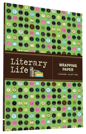 Literary Life Wrapping Paper