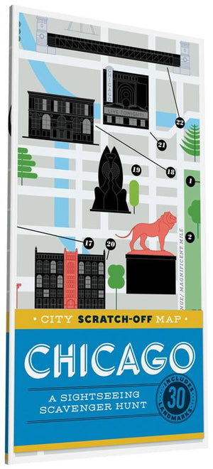 City Scratch-Off Map: Chicago