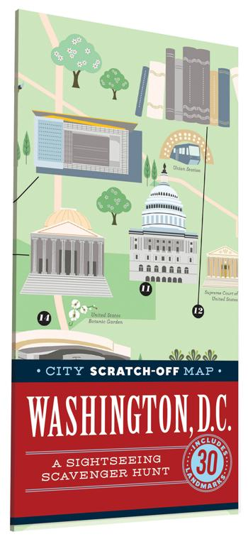 City Scratch-Off Map: Washington, D.C.