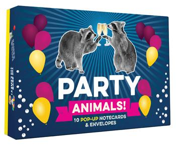 Party Animals! Pop-up Notecard Collection