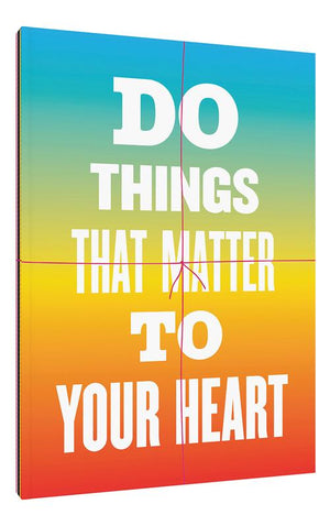 Do Things That Matter to Your Heart Notebook Collection (Advice from My 80-Year-Old Self)