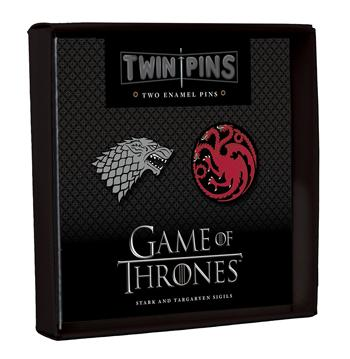 Game of Thrones Twin Pins: Stark and Targaryen Sigils