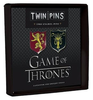 Game of Thrones Twin Pins: Lannister and Greyjoy Sigils