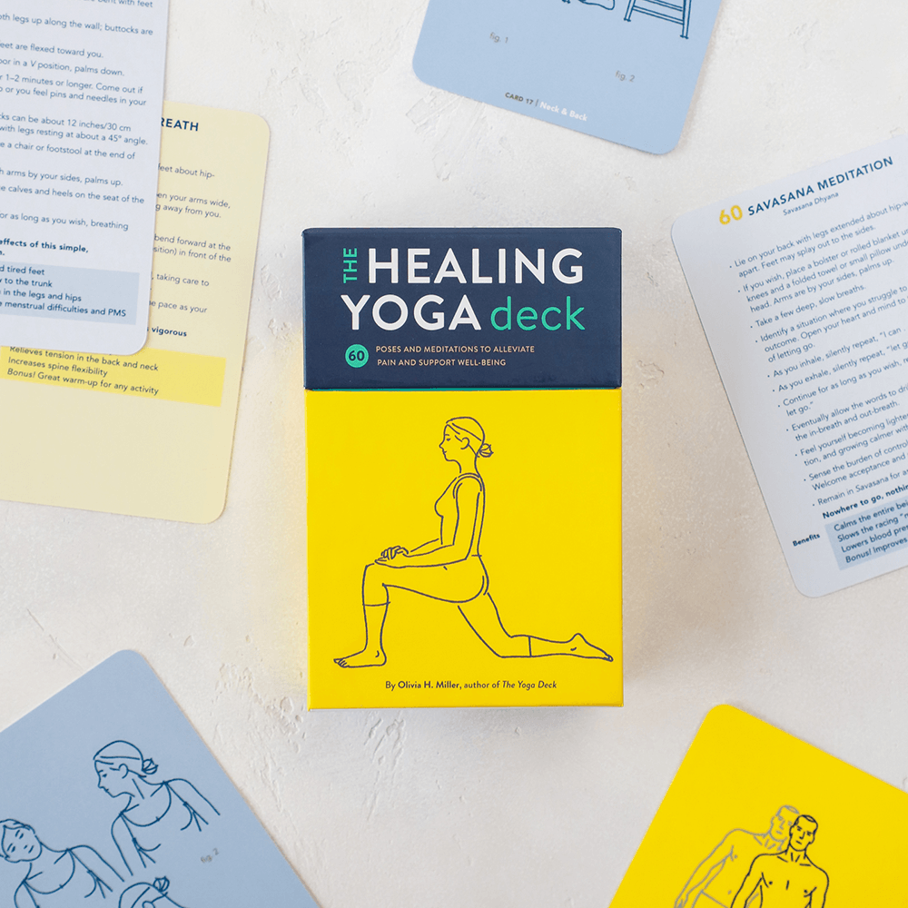 Healing Yoga Deck with cards