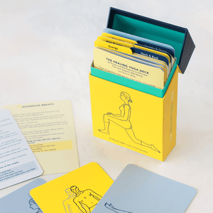 Healing Yoga Deck open box with cards