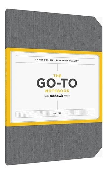 Go-To Notebook with Mohawk Paper, Slate Grey Dotted