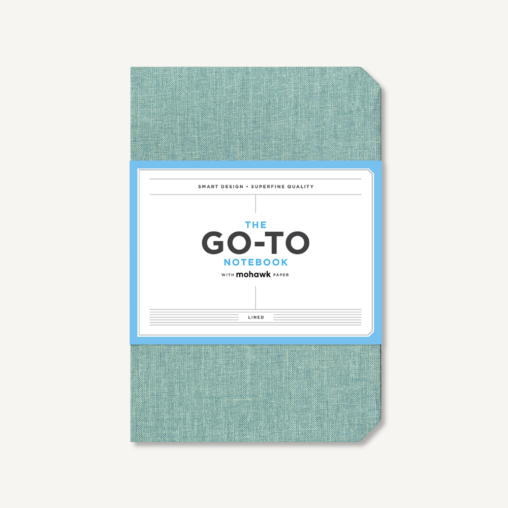 Go-To Notebook with Mohawk Paper, Sage Blue Lined